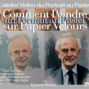 How to paint portraits in Pastel on Velour Paper ( English. mp4)